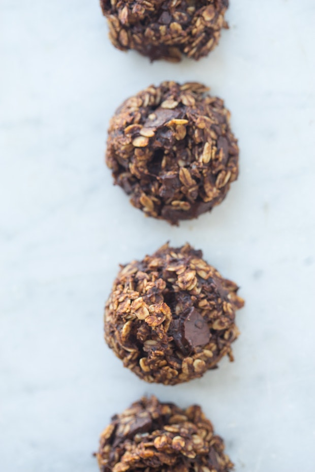 Healthy double chocolate biscuits