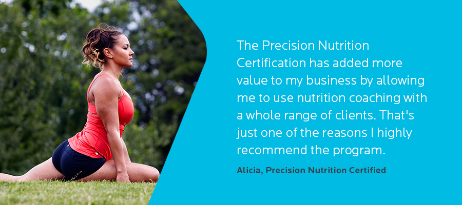 Certification of food precision
