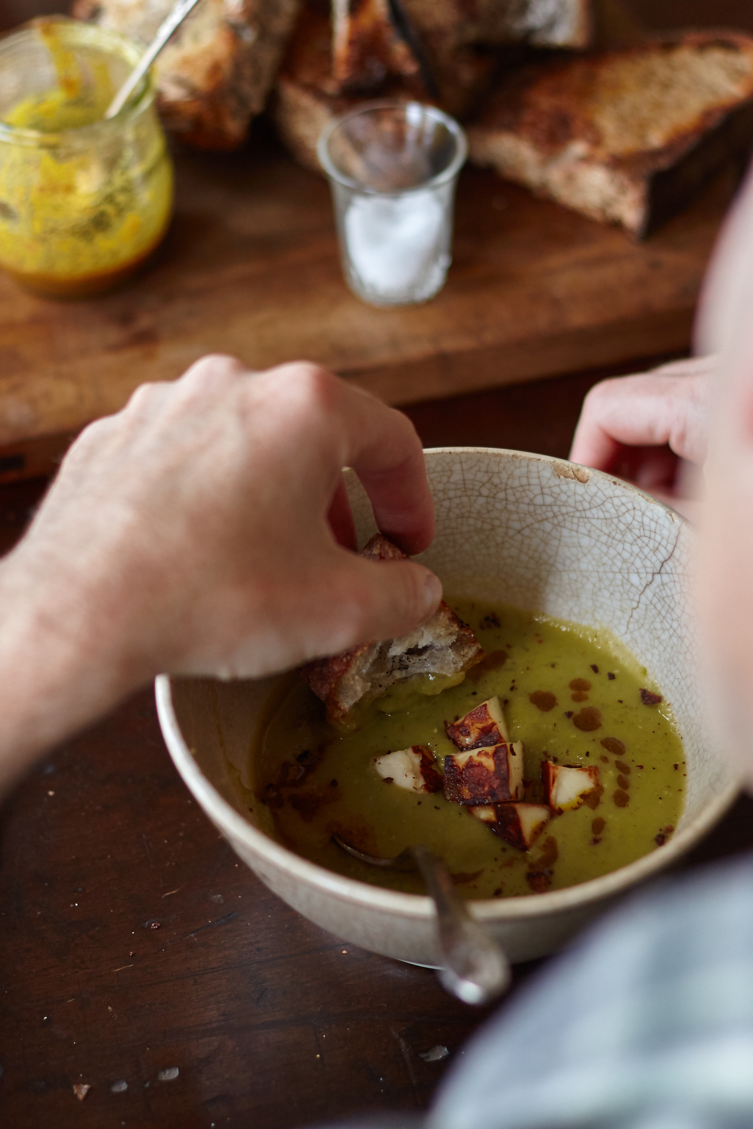 Green Lentil Soup with Roasted Brown Butter