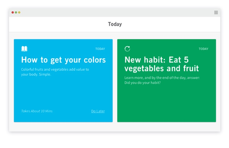 Lessons and habits are displayed on the client page.