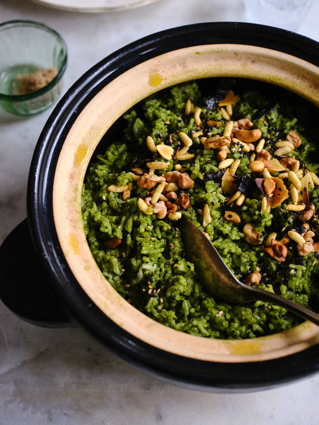 The amazing Bryant Terry green rice